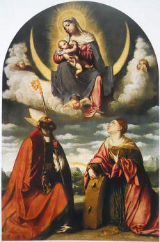 Madonna_col_Bambino_in_gloria_con_i_santi_Martino_e_Caterina Moretto