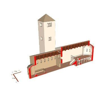 ricostruzione chiesa abbaziale del 900 dc