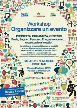 Locandina Workshop evento
