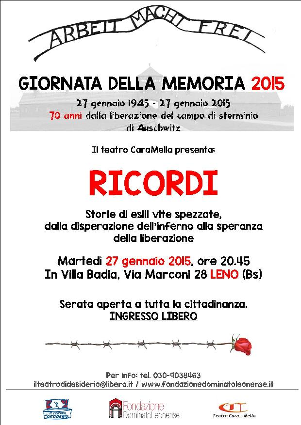 locandina giornata della memoria  2015