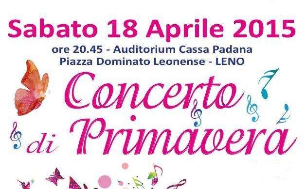 Copertina concerto primavera