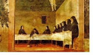 monaci a tavola refertorio