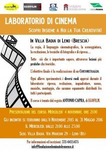 corso di cinema locandina