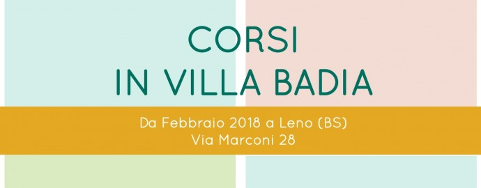 Corsi in Villa Badia 2018 - copertina