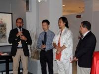 L'inaugurazione della mostra di Zhu Renmin a Verona